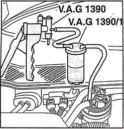Замена топливного фильтра на автомобилях Audi A6 2,5 TDI (C5)