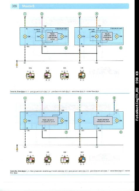 Скачать Схемы электрооборудования MAZDA 6 с 2008.
