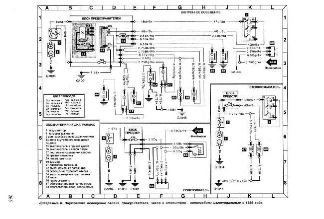 Схемы электрооборудования Ford Escort / Orion (1990-1997)