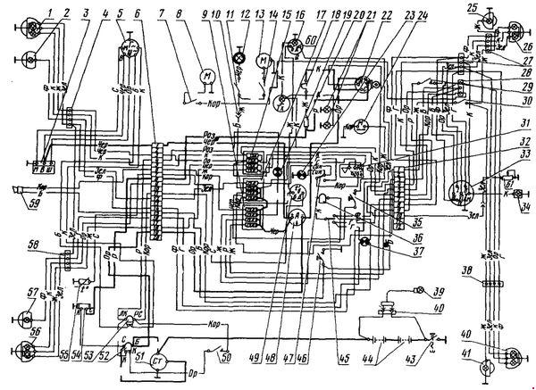 Электросхема трактора МТЗ-80 и МТЗ-82