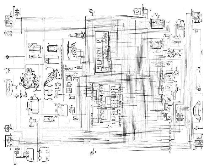 Схема электрооборудования Skoda Favorit и Forman