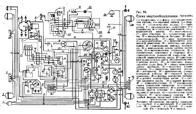 Схема электрооборудования ЛуАЗ-969А