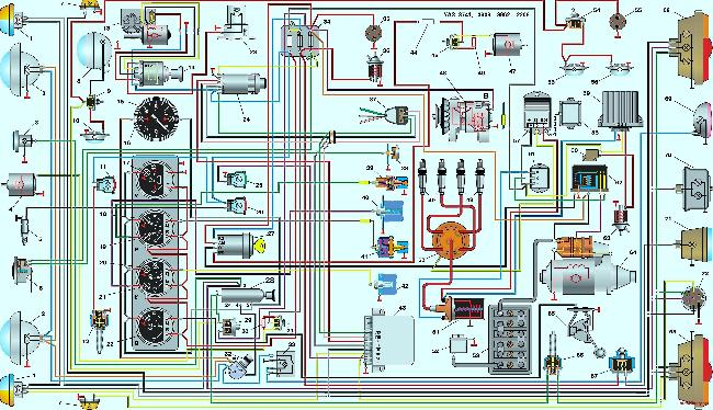 Схема проводки уаз микроавтобус