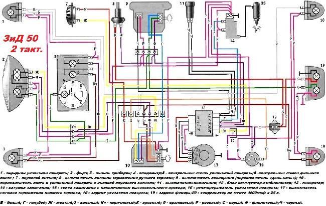 Схемы электрооборудования ЗиД 50