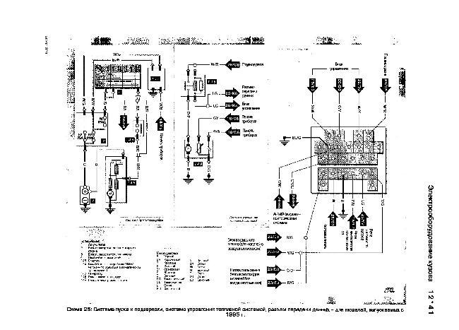 Схемы электрооборудования Mazda 323F модели выпуска с 1995 года