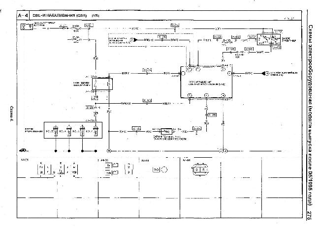 Схемы электрооборудования автомобилей Mazda Titan 1995-2000 гг. выпуска