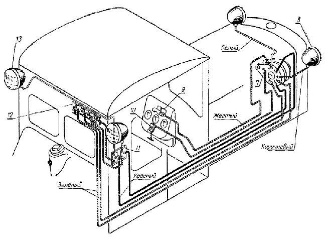 Схема электрооборудования трактора ДТ-54А