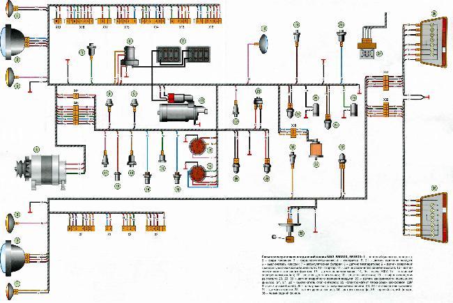 электросхема маз 54324