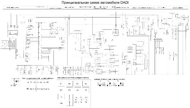 Схема электрооборудования Dadi