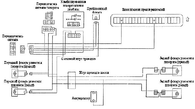 Монтажная схема фар Yuejin серии NJ1080