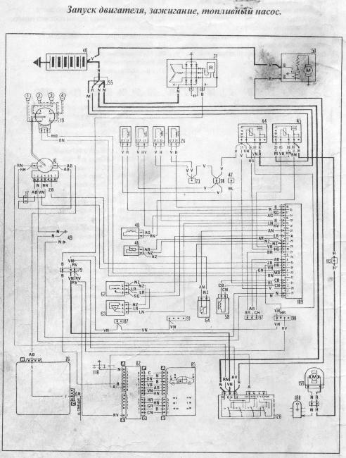 Электрические схемы Fiat Croma, Lancia Thema, Alfa Romeo 164 с бензиновыми двигателями