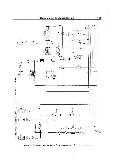 Схема системы управления двигателем Hino J05C