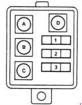 Назначение и расположение предохранителей Toyota Land Cruiser 70 / Prado 71-79 с дизельными двигателями (1985-1996)