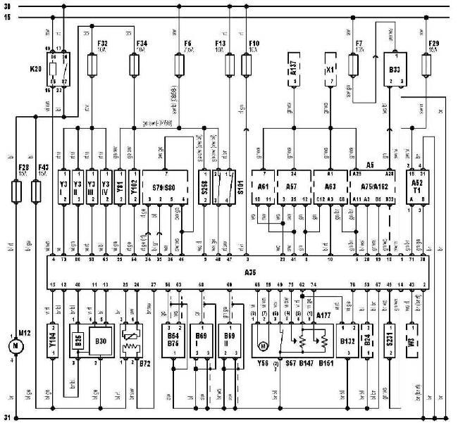 Схемы электрооборудования Audi A3 1996–2003 (8L)