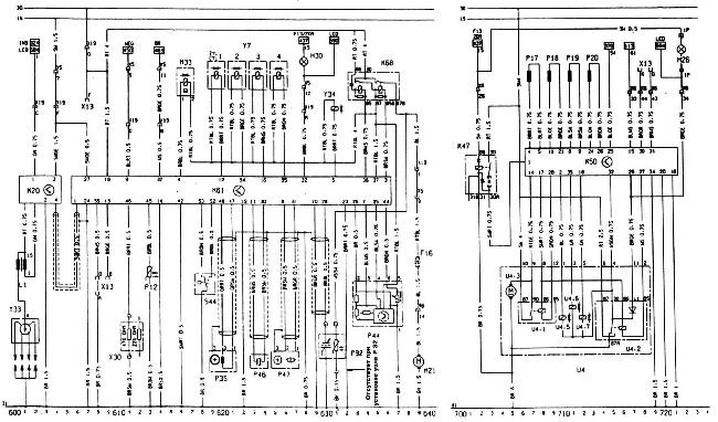 Схемы электрооборудования Opel Kadett E с двигателем 20XE