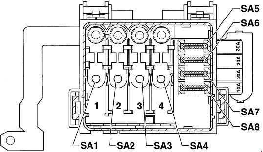 volkswagen lupo fuse box diagram fuse diagram rh knigaproavto ru vw lupo gti wiring diagram vw lupo 1.0 wiring diagram