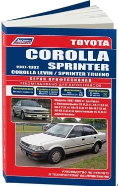 Схема электрооборудования Toyota Corolla 1983-92 г.в