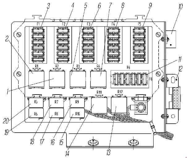 Схема предохранителей и реле Урал 6370 и его модификации