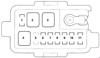 2001-2006 Acura MDX Fuse Box Diagram » Fuse Diagram
