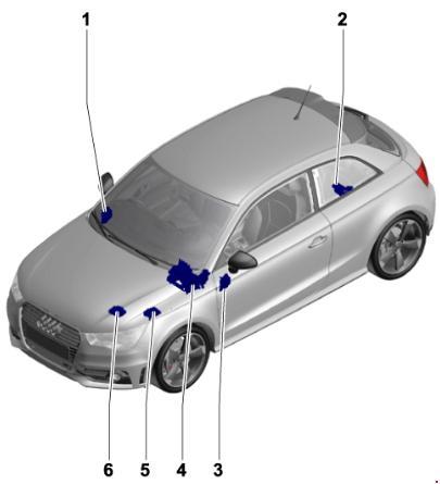 2010-2018 Audi A1 & S1 Fuse Box Diagram
