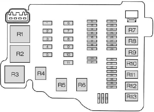 Ford B-Max Fuse Box Diagram