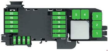 skoda rapid and skoda rapid spaceback fuse box diagram rh knigaproavto ru  skoda rapid fuse box diagram