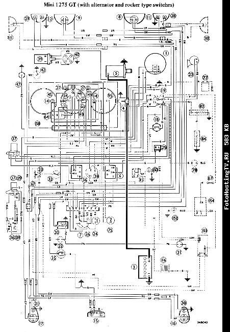 Электрическая схема автомобиля Mini 1275