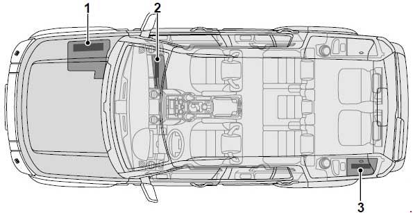 Схема предохранителей Land Rover Discovery 3 (L319; 2004–2009)