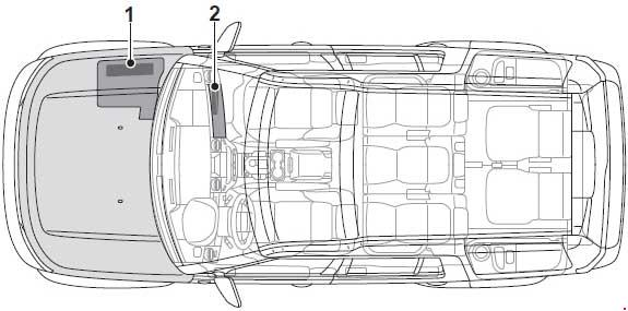 Схема предохранителей Land Rover Discovery 4 (L319; 2009–2016)