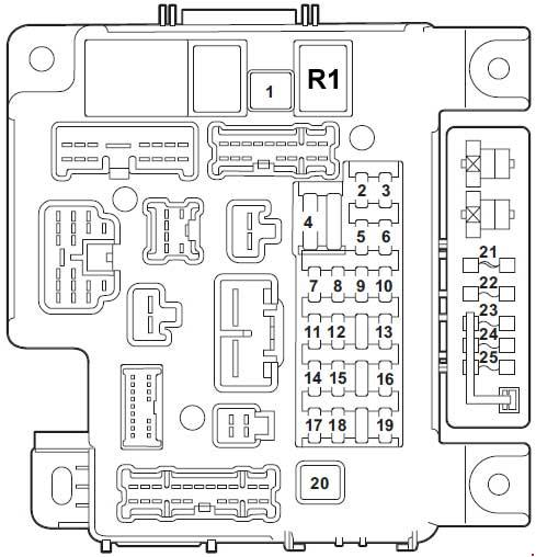 2007 u20132017 mitsubishi lancer x fuse box diagram  u00bb fuse diagram