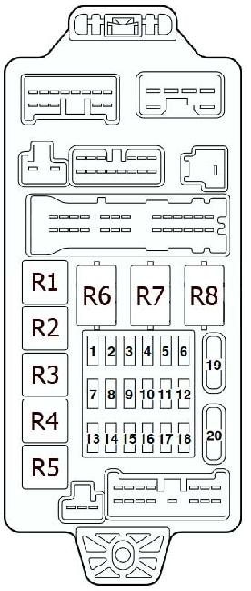 2004 Mitsubishi Lancer Fuse Box Diagram