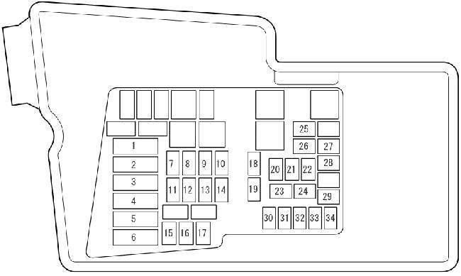 2006-2009 mazda cx-7 fuse box diagram  knigaproavto.ru
