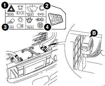 jcb 3cx 4cx fuse box diagram fuse diagram rh knigaproavto ru jcb 3cx fuse box location jcb 801 fuse box location