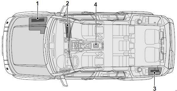 2004-2009 Land Rover Discovery 3 Fuse Box Diagram