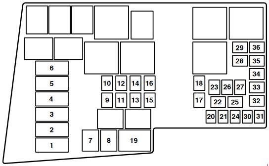Mazda 3 (BK) fuse box diagram (2003-2008) » Fuse Diagramknigaproavto.ru
