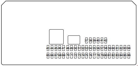 Mazda 3 (BK) fuse box diagram (2003-2008)