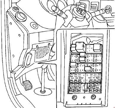 Схема предохранителей и реле Iveco Daily III (2000–2006)