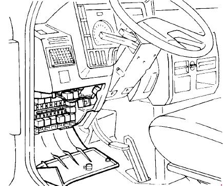 1989–2000 Iveco Daily II Fuse Box Diagram on