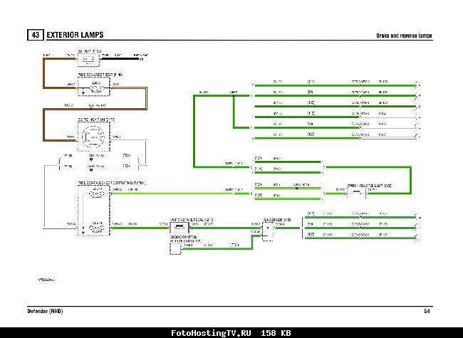 Цветные схемы электрооборудования Land Rover Defender