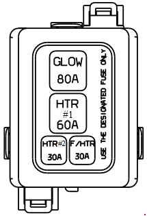 1999-2005 Hyundai Accent (LC) Fuse Box Diagram