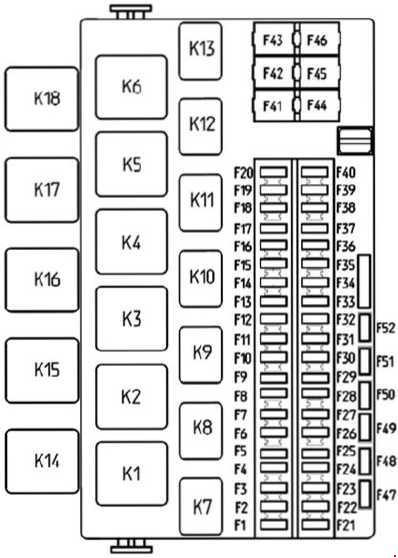 Схема предохранителей и реле Лада Калина 2 с 2013 года