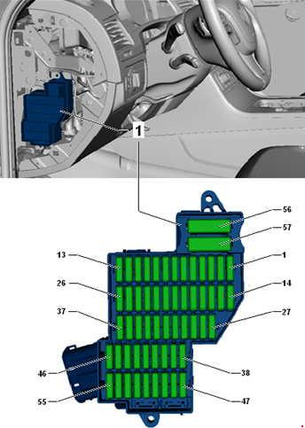 2010-2018 Volkswagen Touareg Fuse Box Diagram