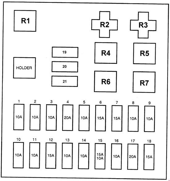 Hyundai H100 1997 fuse box diagram