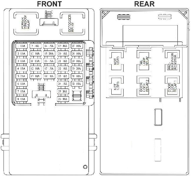 hyundai trajet fuse box diagram 2004 2008 fuse diagram. Black Bedroom Furniture Sets. Home Design Ideas