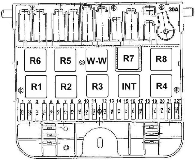 skoda felicia 1999 fuse box diagram