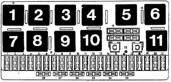 Схема предохранителей и реле Audi 80 B2 (1979-1986)