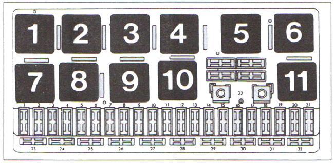 Схема предохранителей и реле Audi 80 B4 (1991-1996)