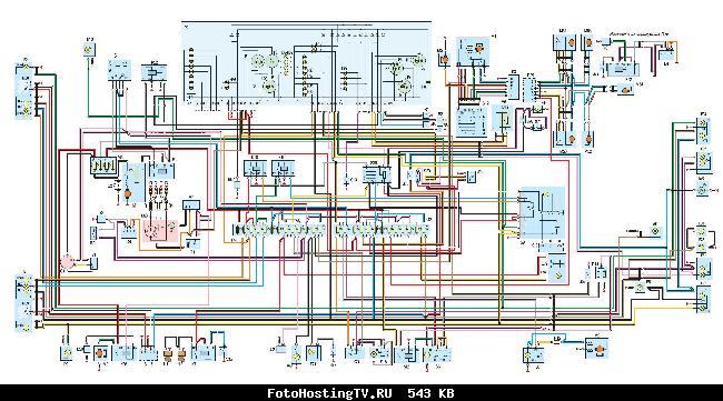 электросхема управления кондиционера волга