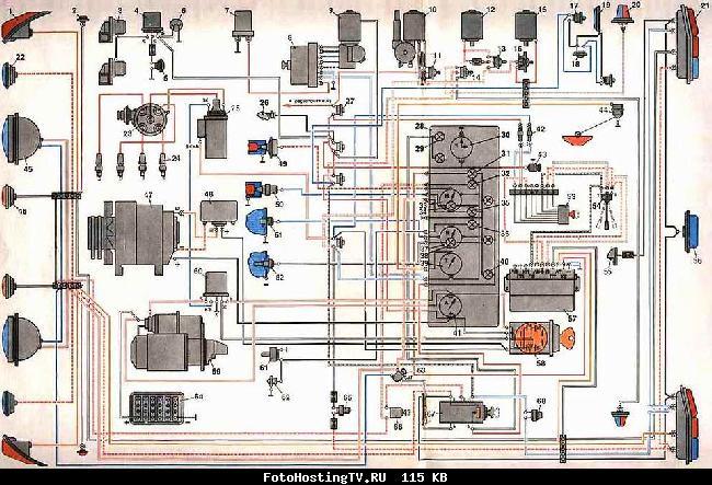 Схема электрооборудования ГАЗ-24