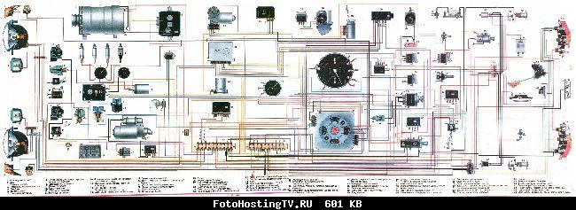 Электросхема ГАЗ 2410